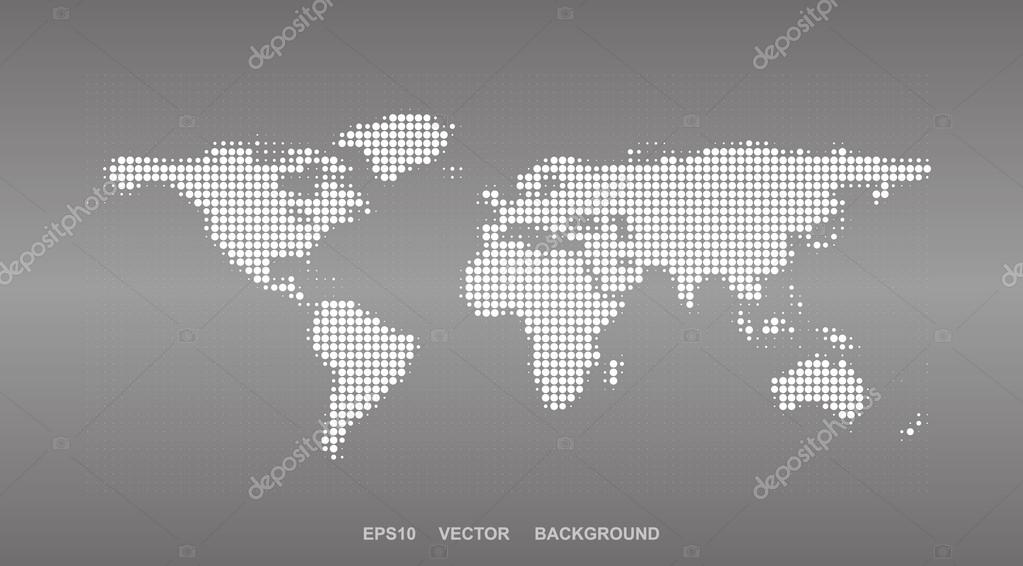 Dotted map design halftone world map stock vector bagotaj colorful abstract world map background design in editable vector format vector by bagotaj gumiabroncs Gallery