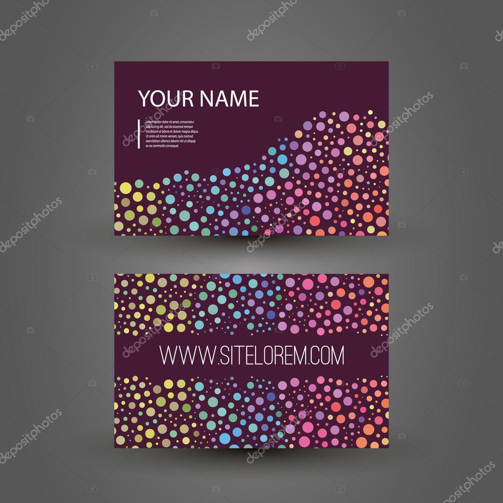 Colorful dotted business or gift card design stock vector abstract colorful modern styled business card template creative design back and front side illustration in freely editable vector format vector by negle Gallery