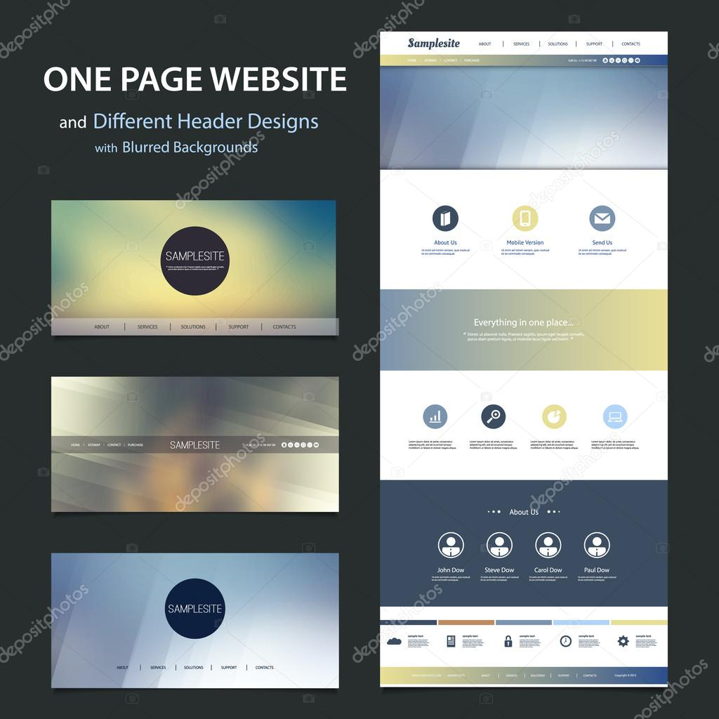 Modern Colorful Abstract Web Site, UI or UX Layout Creative Design Template - User Interface, Icon, Label and Button Designs - Illustration for Your Business or Blog - Freely Scalable and Editable Vector Format Included stock vector
