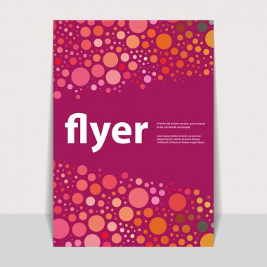 Flyer or Cover Design with Abstract Dotted and Bubbly Pattern