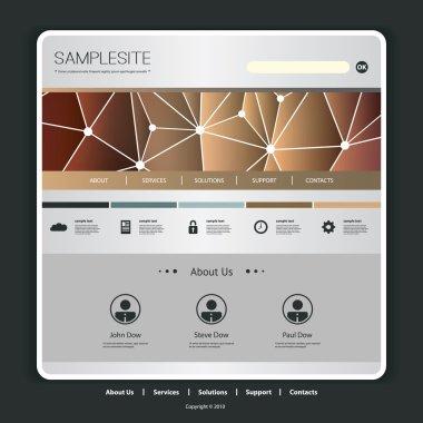Website Template with Networks Header Design