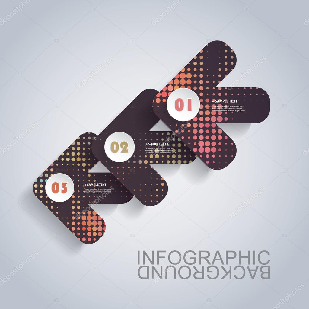 Modern Business Infographic Template - Abstract Arrow Shapes