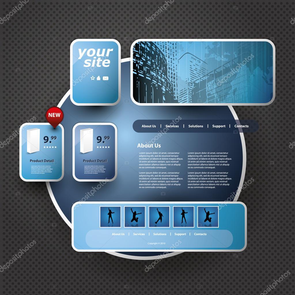 3d website template stock vector bagotaj 56405009 3d website template stock vector maxwellsz