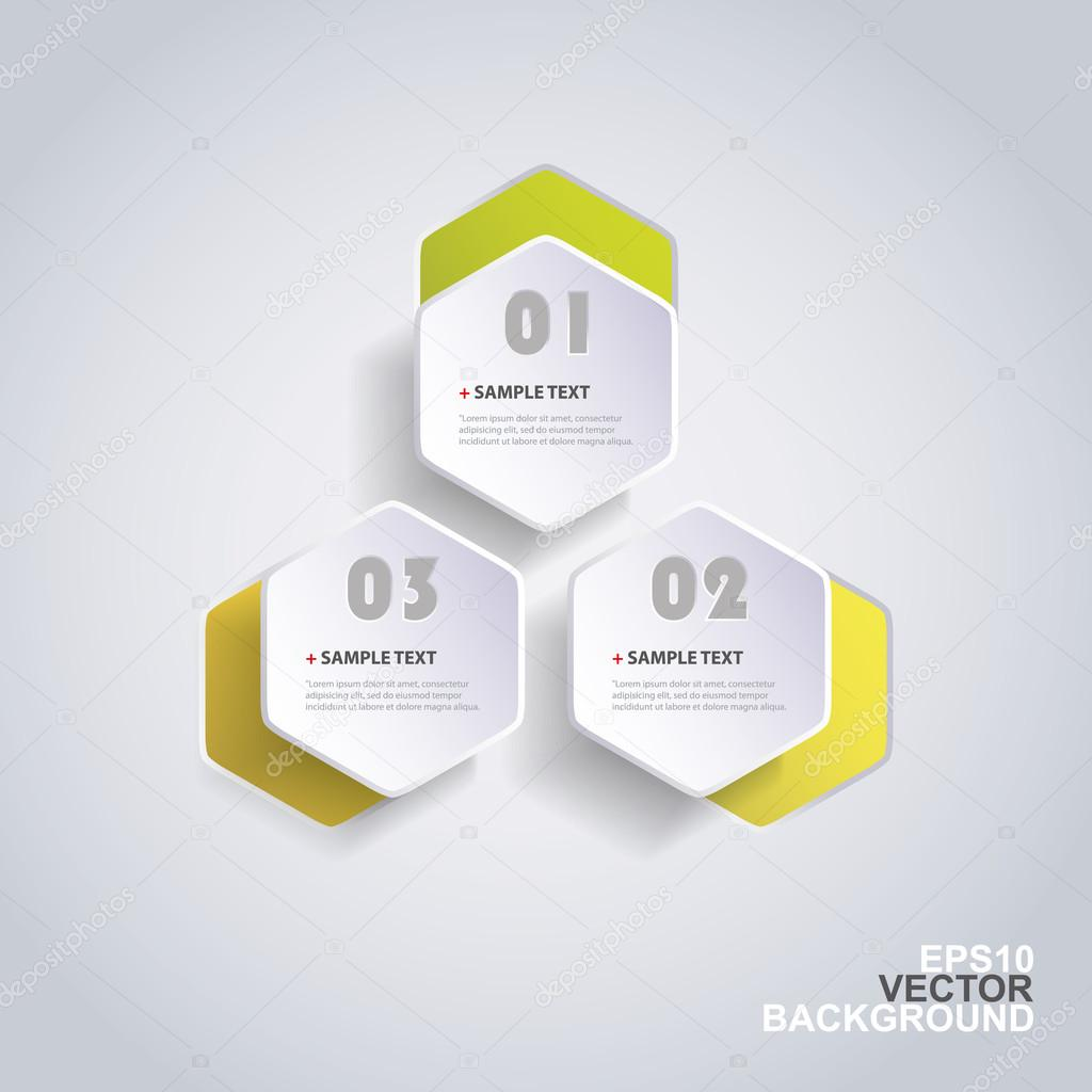 Colorful Paper Cut Infographic Design - Rounded Hexagons