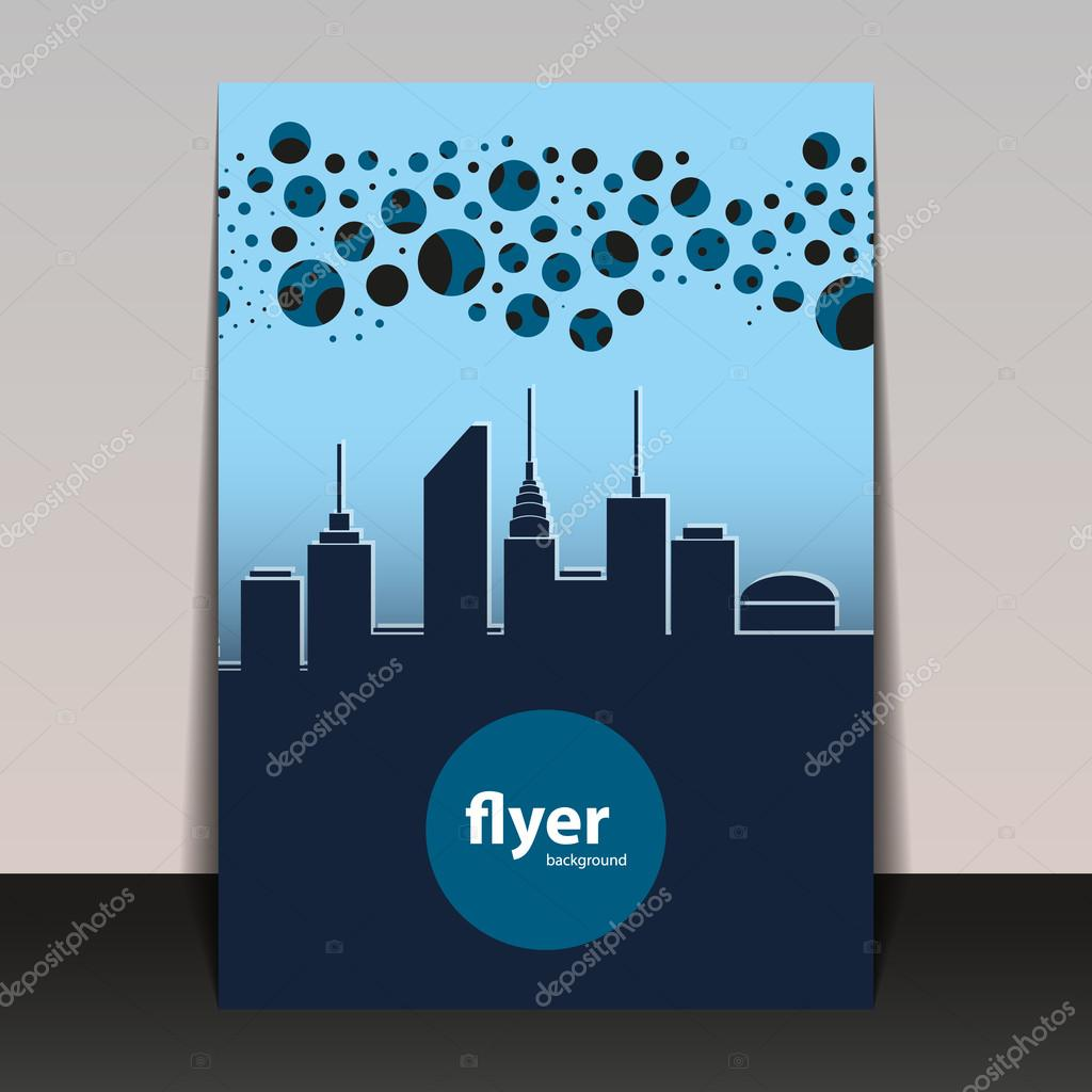 Book Cover Design Silhouette : Flyer or cover design cityscape silhouette — stock