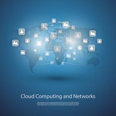 Networks, Cloud Computing, Social Media Design Template