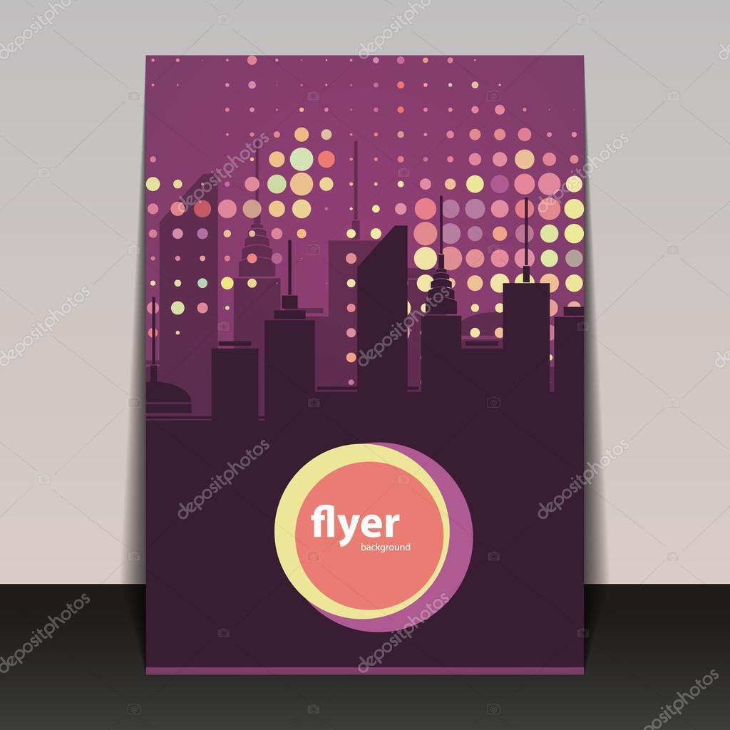 Fiesta Flyer o diseño de la cubierta - silueta del paisaje urbano ...