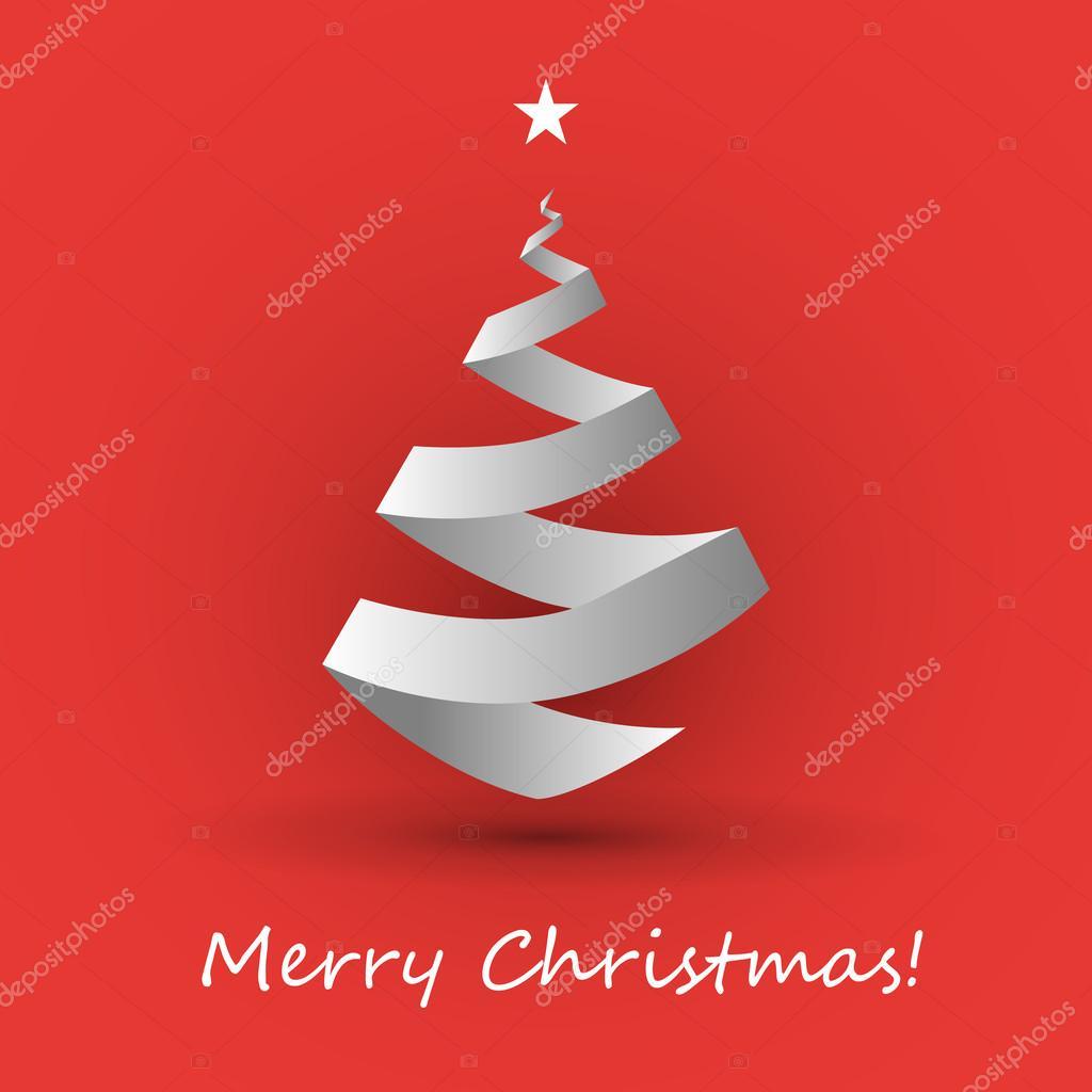 Šablona návrhu kartu origami vánoční stromek — Stock ... - photo#4