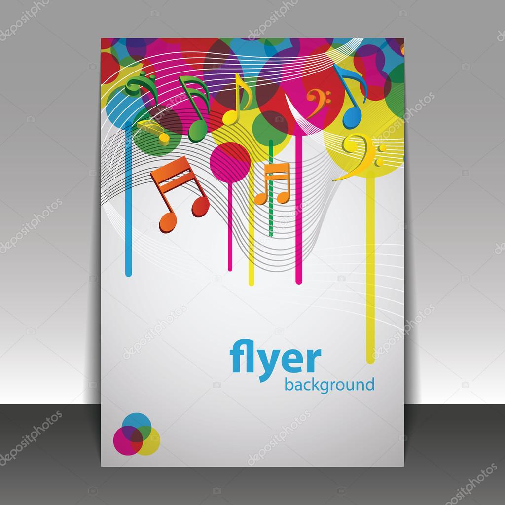 Music Book Cover Design ~ Party time music flyer or cover design template — stock