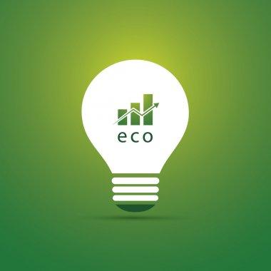 Green Eco Energy Concept Icon - Economic Growth