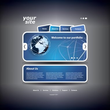 Business Website Template with Network Concept Design