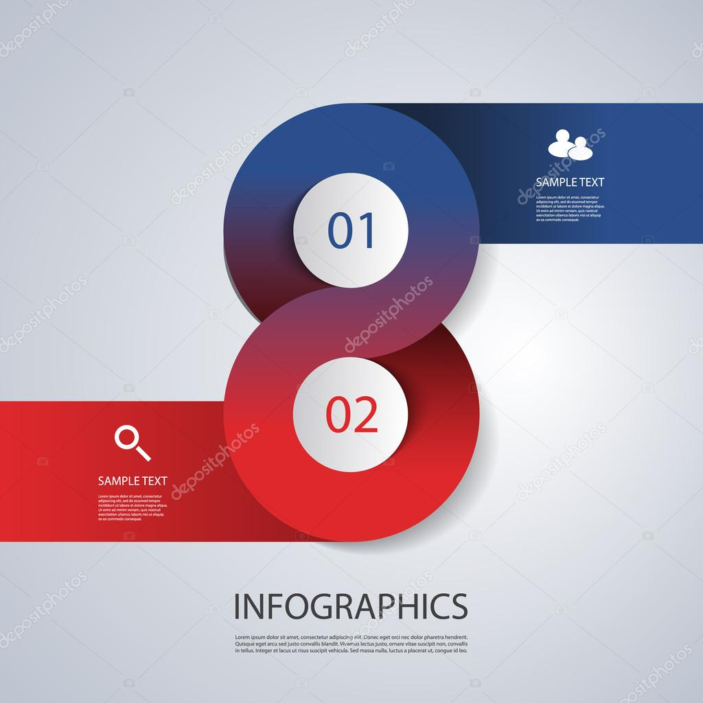 Infographics Cover Template - Circle Designs with Icons