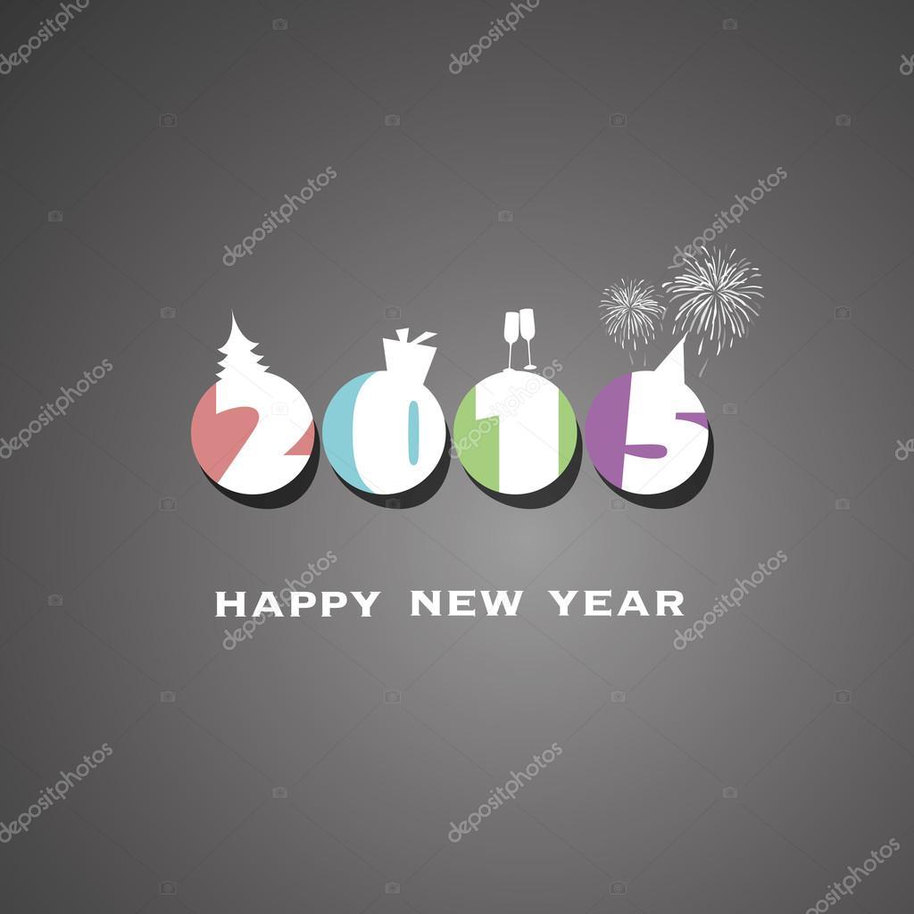New Year Card 2015 Background Stock Vector Bagotaj 60659965