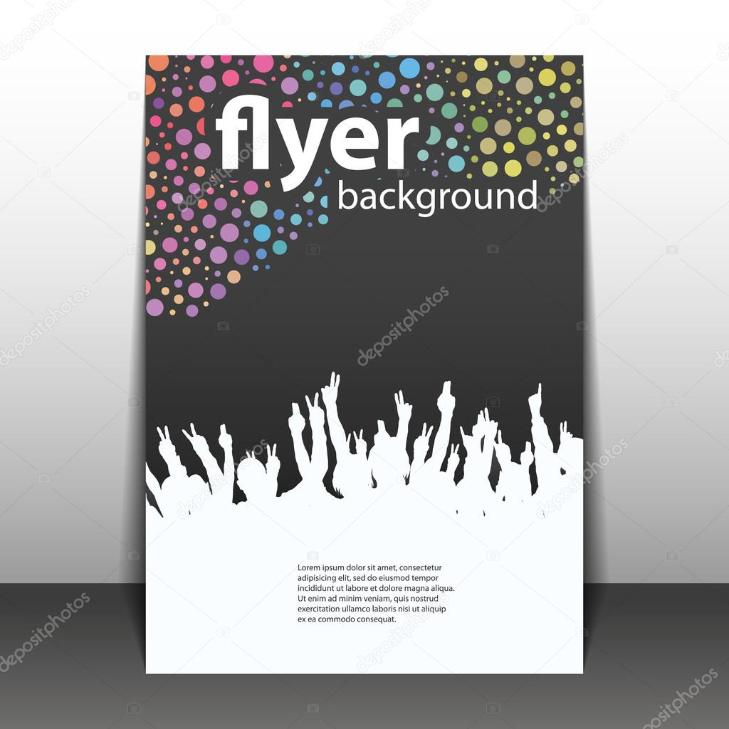 flyer or cover design party time dotted background with waving
