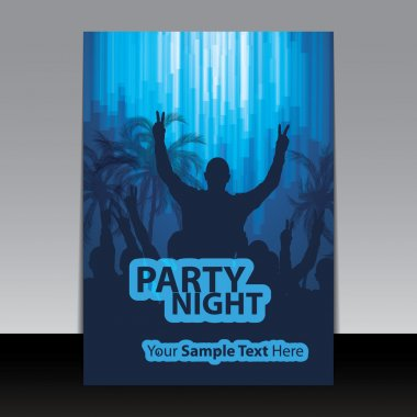 Flyer or Cover Design - Ad Template for Party Night, Celebration Event or Concert