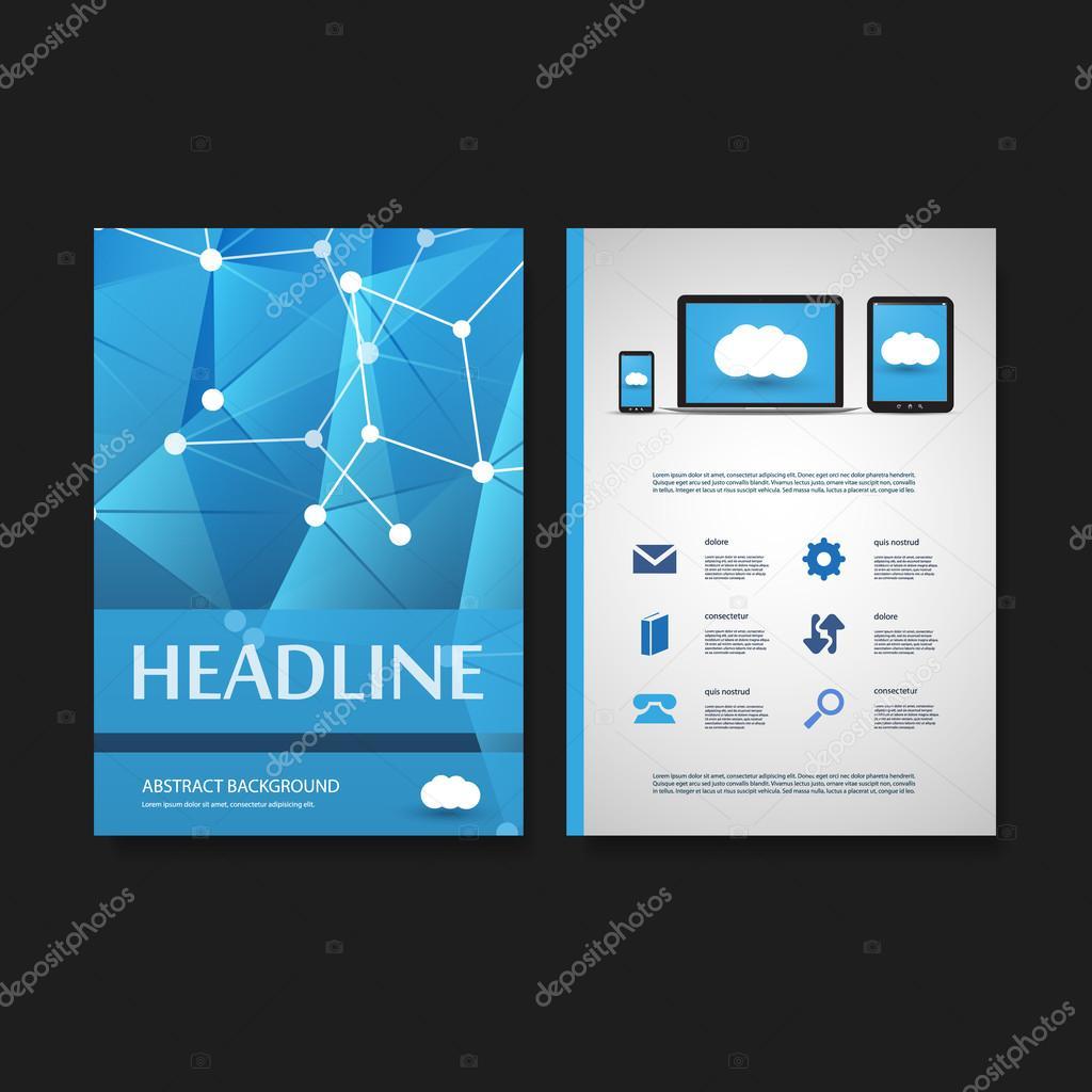 Flyer o diseño de cubierta de plantilla - negocios, redes, él ...