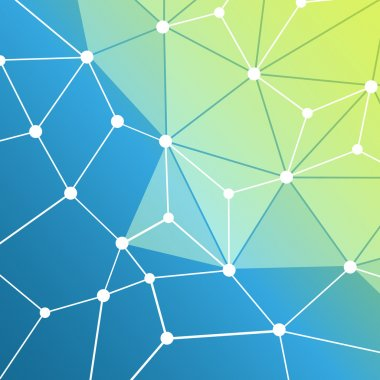 Connections - Molecular, Global, Digital or Business Network Design, Internet, Information or Digital Infrastructure Concept - Abstract Mesh Background