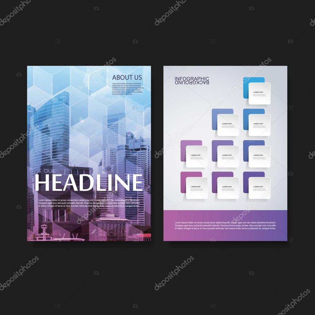 Flyer or Cover Design Template - Business, Network, Infographics - Corporate Identity Concept