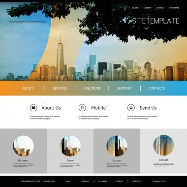 Website Design for Your Business with City Skyline Background