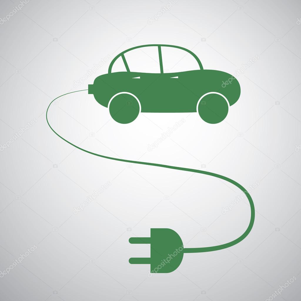 Vehículo eléctrico - plantilla de diseño de icono de coche ...