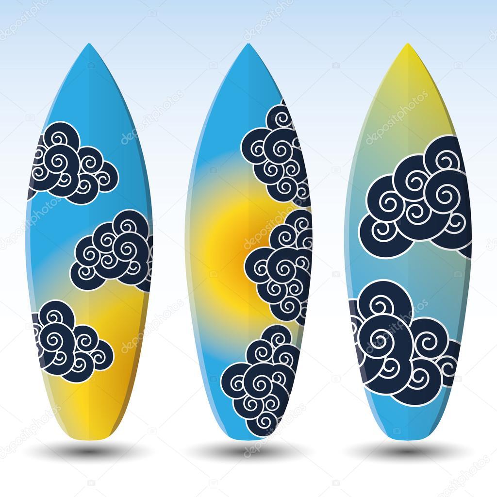Vector Surfboards Design Stock Vector C Bagotaj 69400537