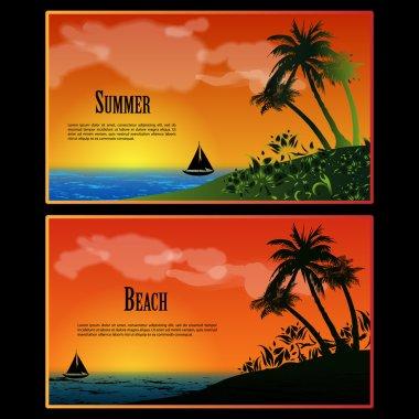 Summer Beach Banner Set