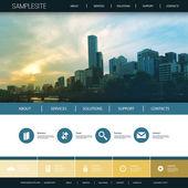 Šablona návrhu webové stránky pro vaši firmu s pozadí panoramatu města