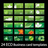 Színes természetes öko-koncepció üzleti, hívás, név, regisztrációs és meghívók