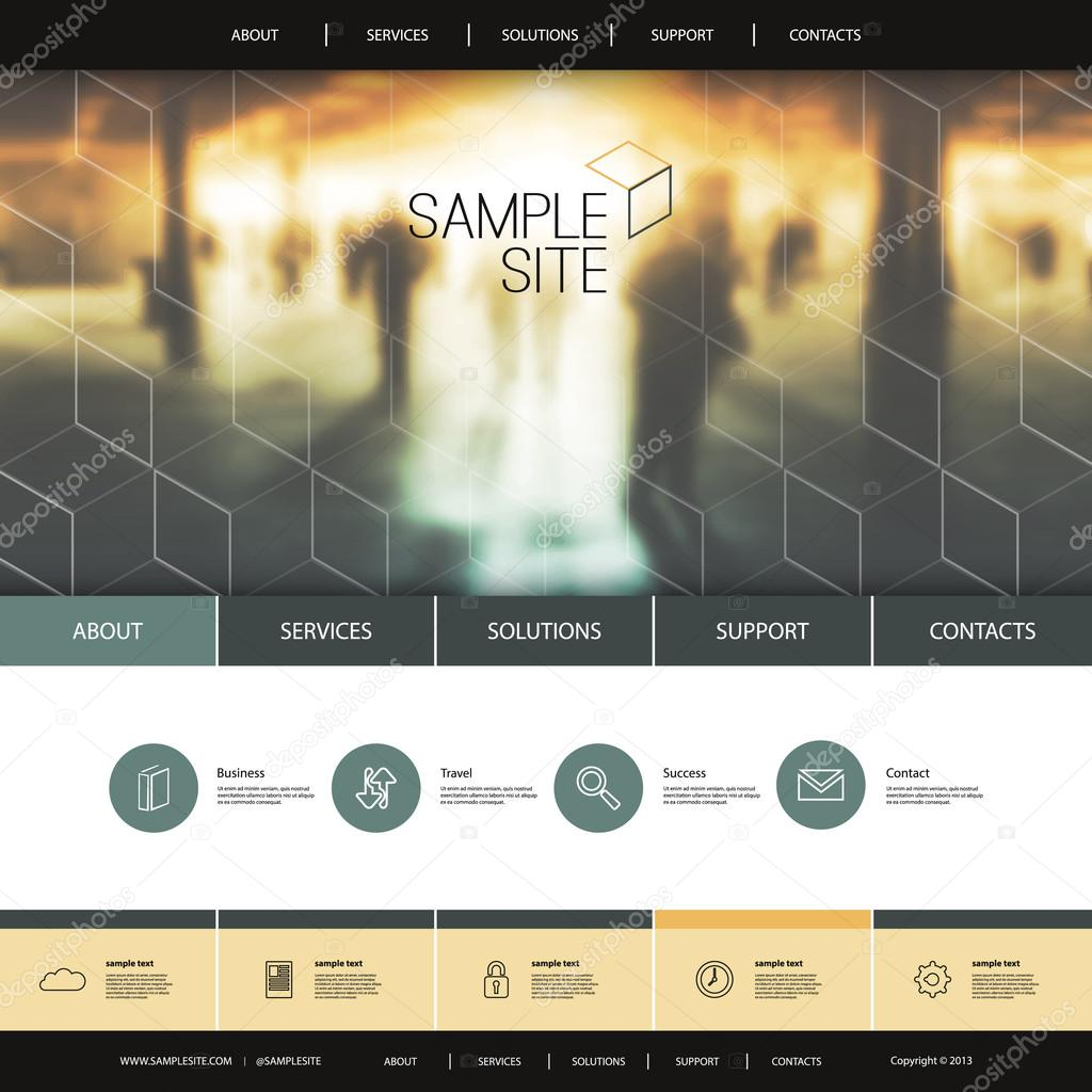 Website design for your business urban theme metro station abstract modern colorful flat styled web site creative design element template layout with urban underground theme illustration for your business or blog voltagebd Choice Image