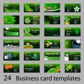 Fényképek Üzleti zöld öko, a név vagy a meghívók