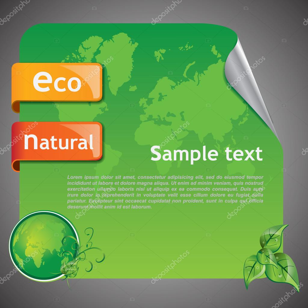 Green Eco Earth Background