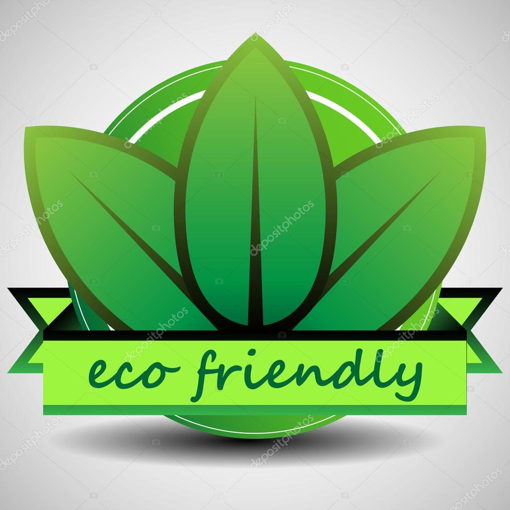 Green Eco Friendly Product Label Template