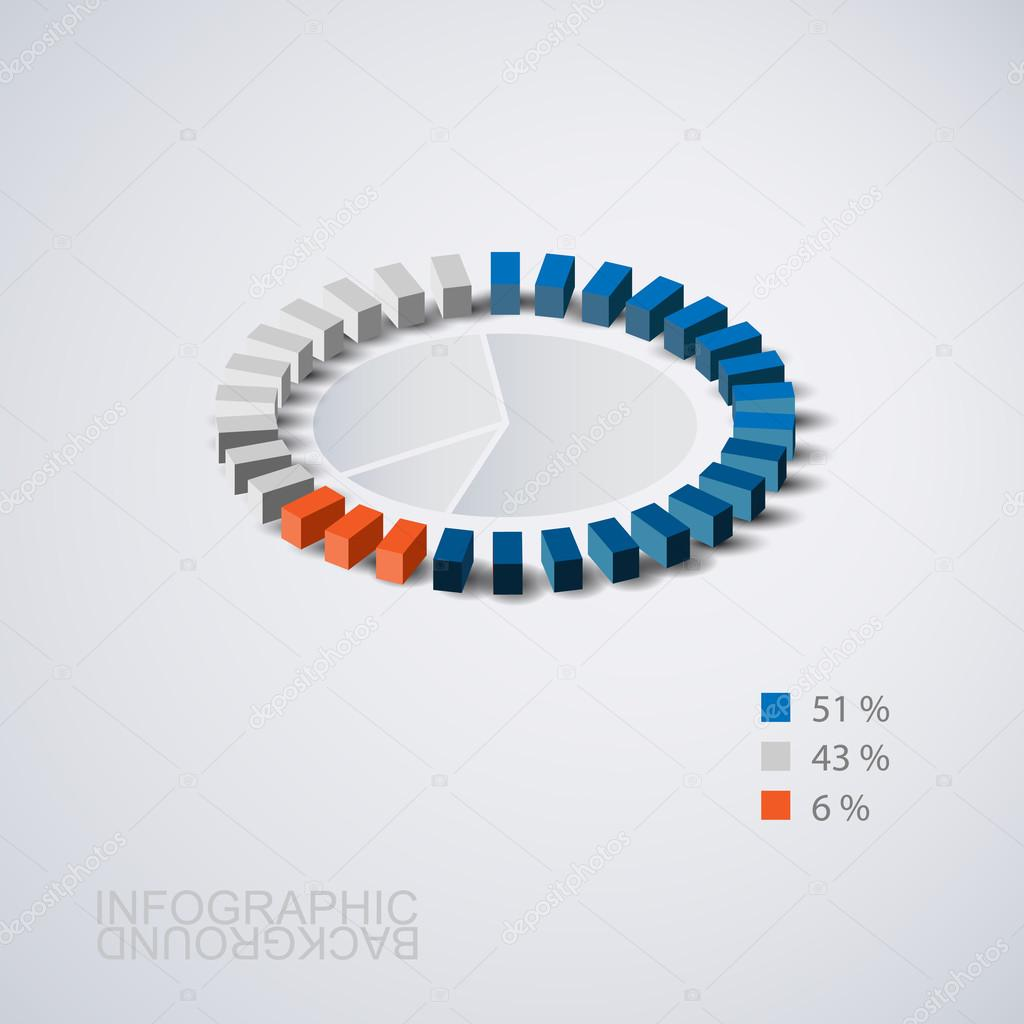 Abstract Pie Chart Graphic Design Template for Your Business, Infographics, Reports, Steps, Presentation