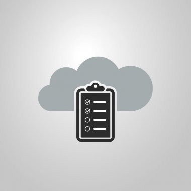 Cloud Computing Concept Design with Checklist Icon
