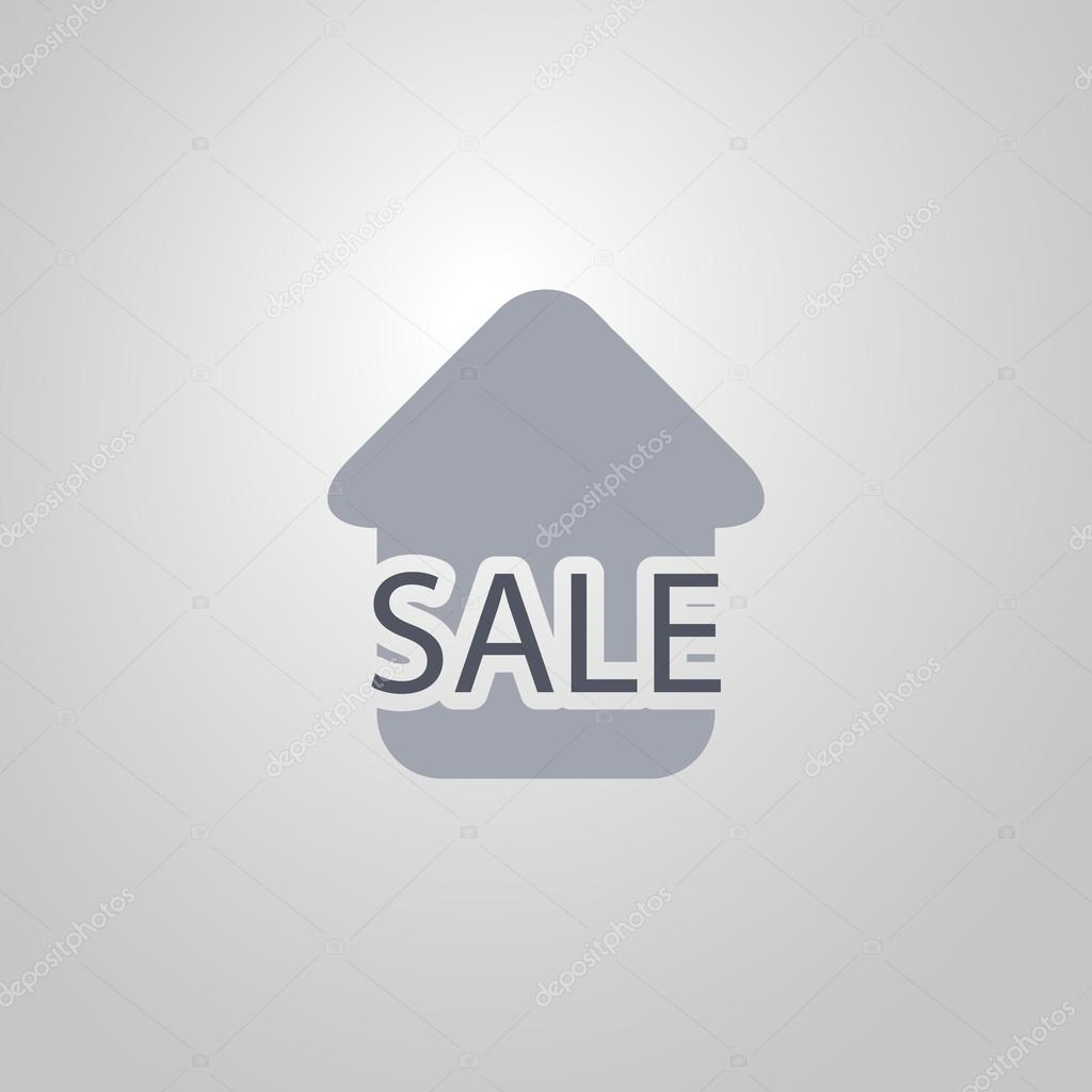 Real Estate Icon Design - House for Sale Flat Symbol — Stock Vector ...
