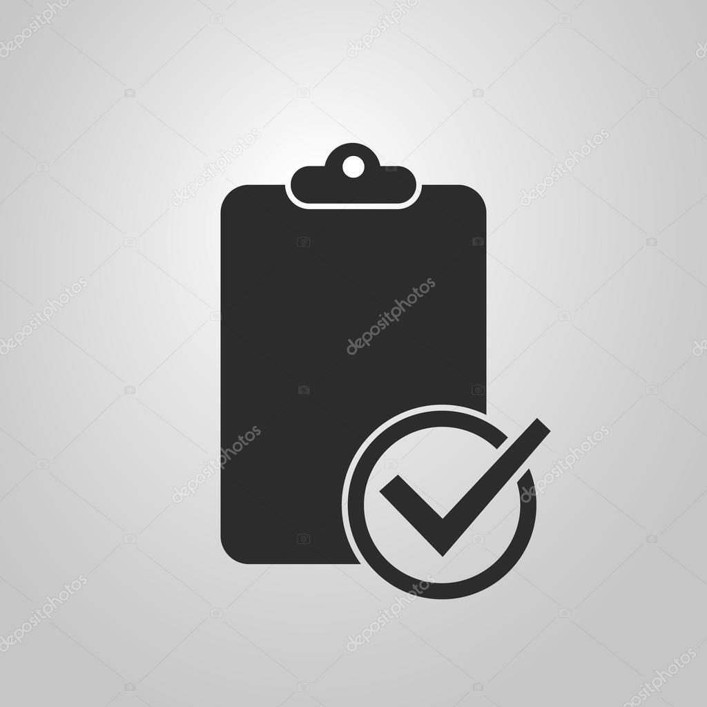 diseño de icono de lista de verificación — Archivo Imágenes ...