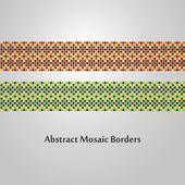 abstraktní barevné mozaiky hraniční vzory - různé dekorační prvky