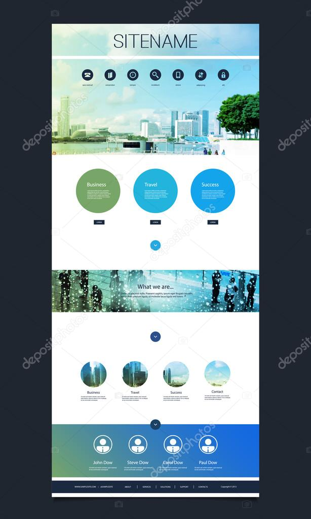 Modern Colorful Abstract Web Site, Flat UI or UX Layout Creative Design Template - User Interface, Icon, Label and Button Designs, Shiny Banner Element Set for Your Business Home Page or Blog with Urban Theme - Illustration in Editable Vector Format stock vector