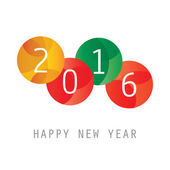 Photo Simple Colorful New Year Card, Cover or Background Design Template - 2016