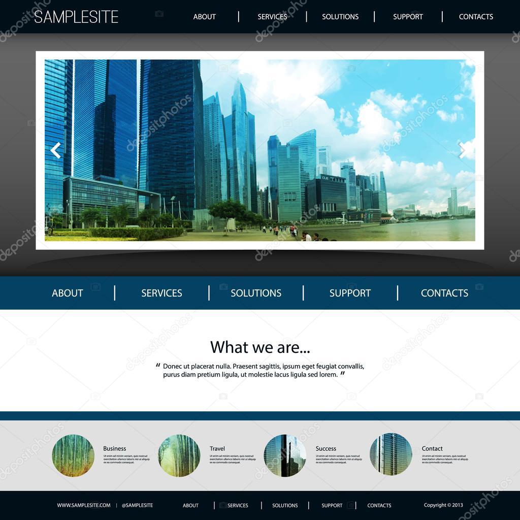 Website Template with Unique Design - Singapore City Skyline