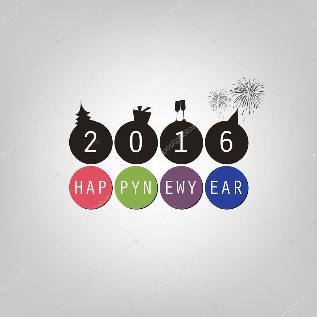 Besten Wünsche - frohes neues Jahr-Karte oder Cover Hintergrund ...