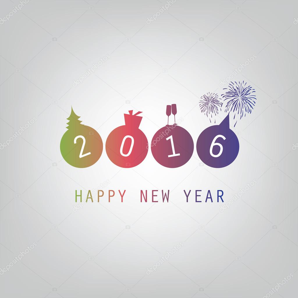 Besten Wünsche - moderne einfache Minimal frohes neues Jahr-Karte ...