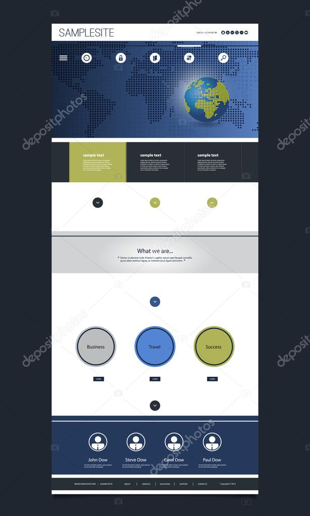 One page website template with earth globe world map background one page website template with earth globe world map background header design vector de gumiabroncs Gallery
