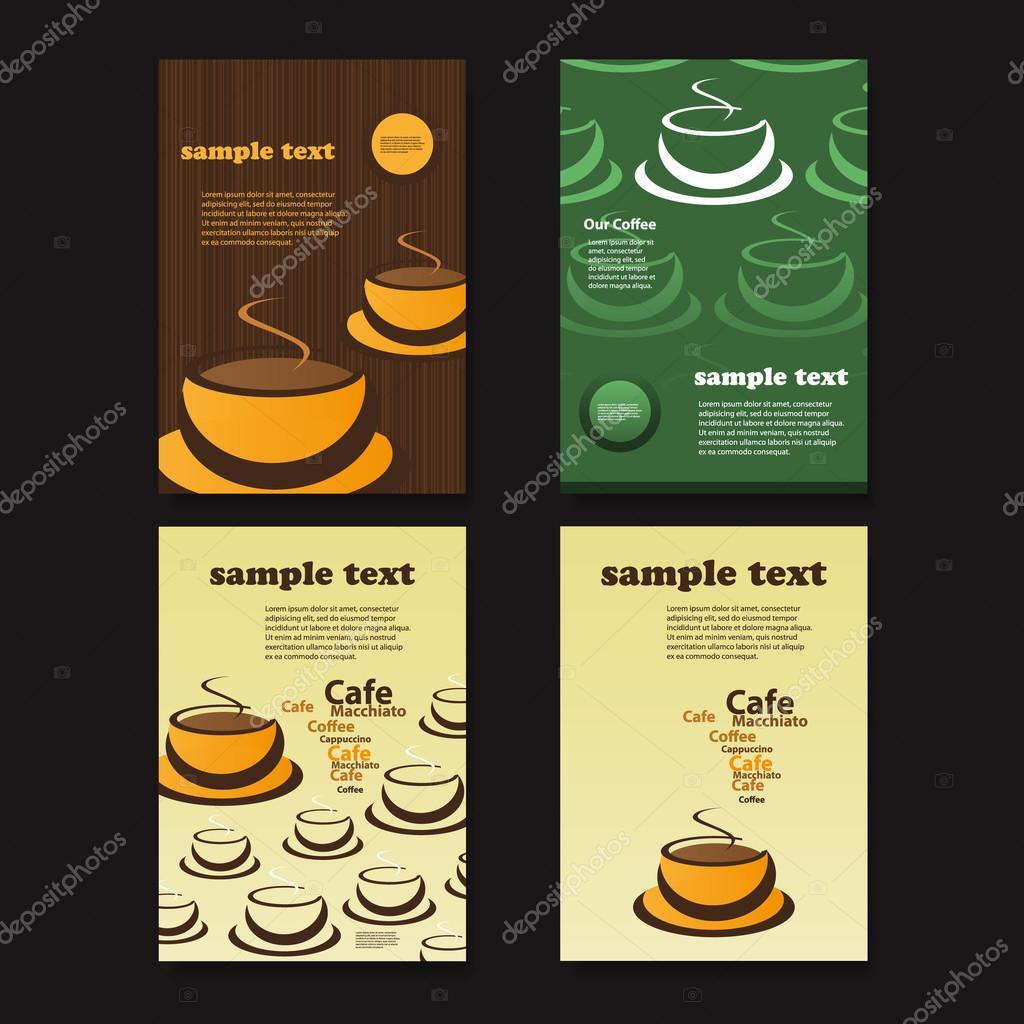 Set von vier Kreative Card, Flyer oder Bucheinband Designs mit ...
