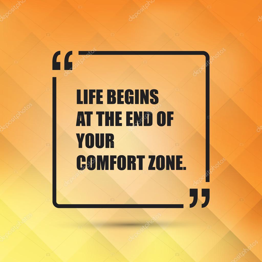 Leben beginnt am Ende von Ihrem Komfort-Zone - inspirierende Spruch ...