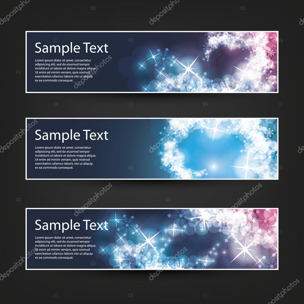 set of horizontal banner background designs colors blue purple