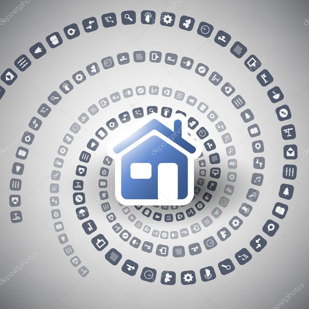 internet van dingen digitaal huis en netwerken design