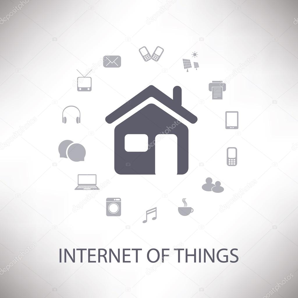 Internet Of Things, Digital Home And Networks Design Concept With ...