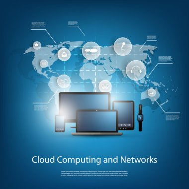 Cloud Computing Concept With Various Mobile Devices