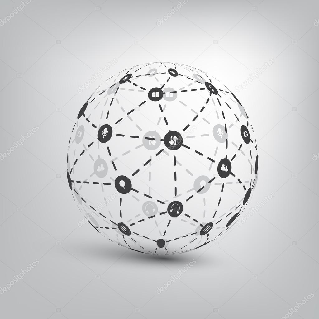 Networks - Globe Design Concept — Stock Vector © bagotaj #95101732